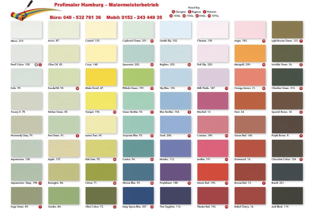 Online Farbfächer von Caparol und Farrow & Ball - Maler Hamburg