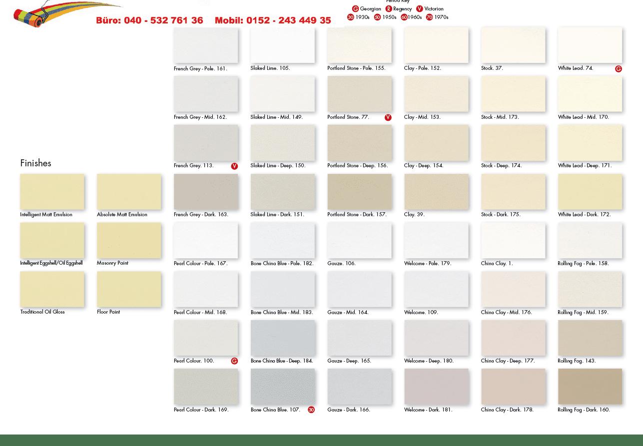 Online Farbfächer, Caparol, Little Green, Farrow & Ball