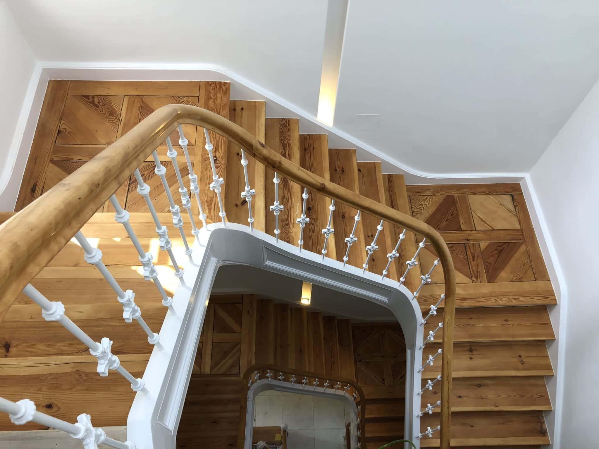 Treppenstufen geölt